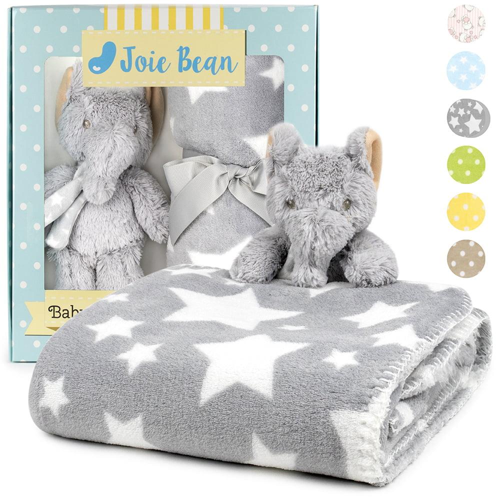 Premium Baby Blanket With Stuffed Animal Plush Toy Soft Fleece