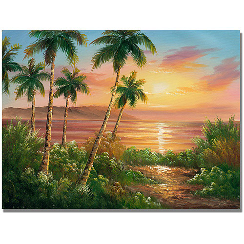 "Trademark Fine Art ""Pacific Sunset"" Canvas Art"