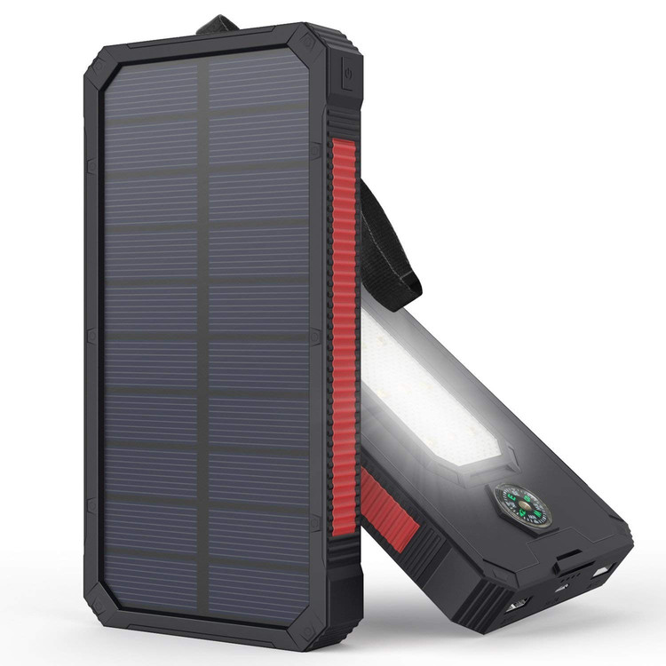 300000mAh Dual USB Solar Power Bank Portable Solar Phone Charger Waterproof Solar Battery Charger