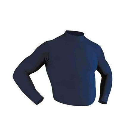 Mcdavid Classic 994 Heavyweight Long Sleeve Body Shirt Mock Navy Medium Mcdavid Body Shirt