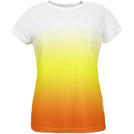 Halloween Candy Corn Ombre Costume All Over Womens T Shirt Multi 2XL