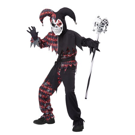 Child Boy Sinister Jester Costume By California Costumes 00466