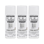 (3 Pack) Rust-Oleum CHALKED Ultra Matte Paint, Linen White