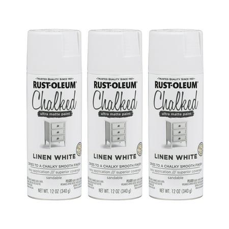 (3 Pack) Rust-Oleum CHALKED Ultra Matte Paint, Linen