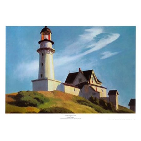 Lighthouse at Two Lights Art Print  By Edward (Two Lights Lighthouse)
