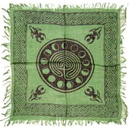 Celtic Cloths - Tarot/altar Cloth - Celtic Design with Goddess and Phases of the Moon - 18