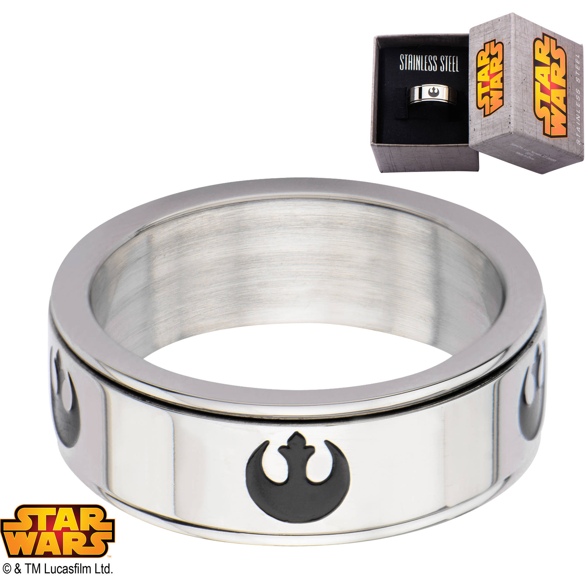 Star Wars Mens Star Wars Ring Rebel Alliance Stainless Steel zl3PJFwmss