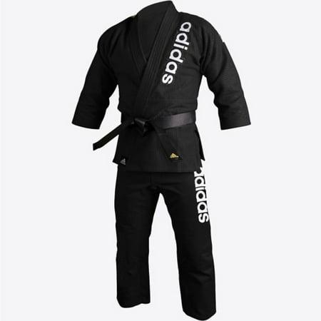 adidas Jiu-Jitsu Martial Arts Double Weave Gi, Black