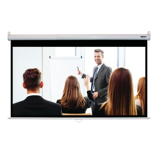 Hamilton Buhl Matte White 100'' Diagonal Manual Projection Screen