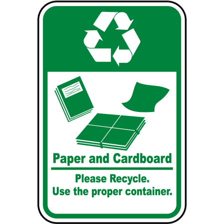 Traffic Signs - Paper & Cardboard Recycle Sign 10 x 7 Aluminum Sign Street Weather Approved Sign 0.04 Thickness