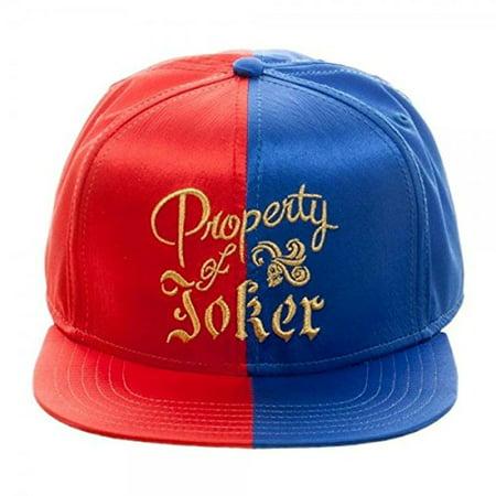 Joker Hat (baseball cap - suicide squad harley quinn property of joker snapback)