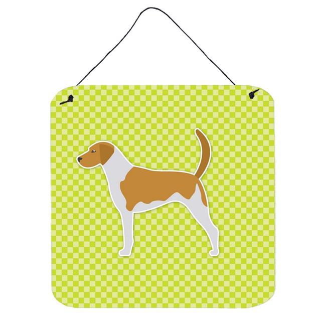 American Foxhound Checkerboard Green Wall or Door Hanging Prints - image 1 de 1