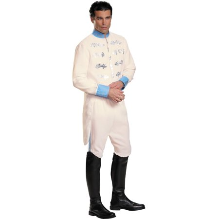 Cinderella And Prince Halloween Costumes (White and Blue Prince Cinderella Men Adult Halloween Costume - Extra)