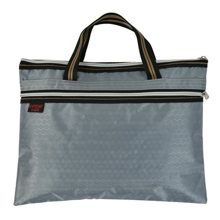 Ballistic Nylon Top Zip Tote (Document File Nylon Hexagon Pattern A4 Zip Up Hand Bag Tote Organizer Gray )