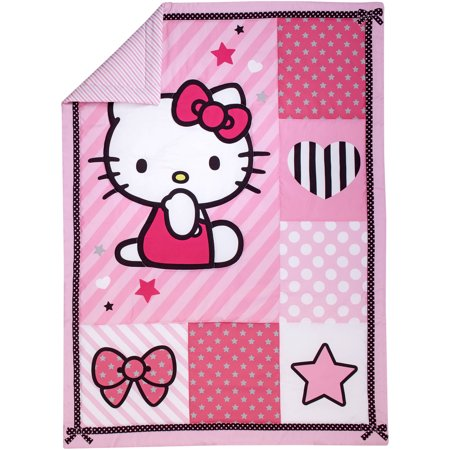 Hello Kitty Sweetheart 3-Piece Toddler Bedding Set with BONUS Matching Pillow Case (Toddler Bedrooms Sets)