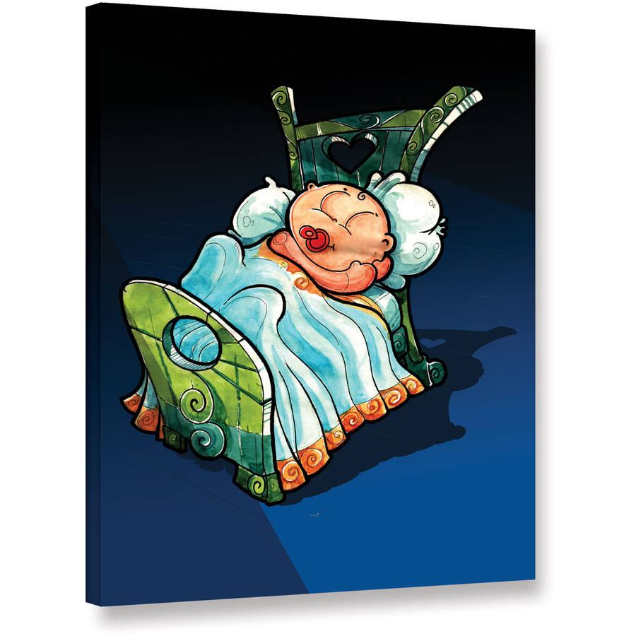 "Luis Peres ""Kids In Bed 2"" Gallery-Wrapped Canvas"