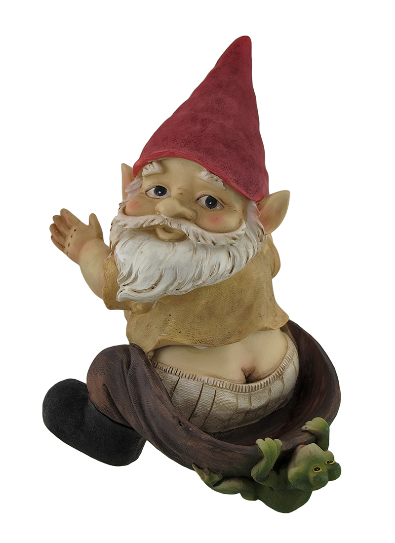 Cheeky the Garden Gnome Hanging Birdfeeder by Mayrich Company