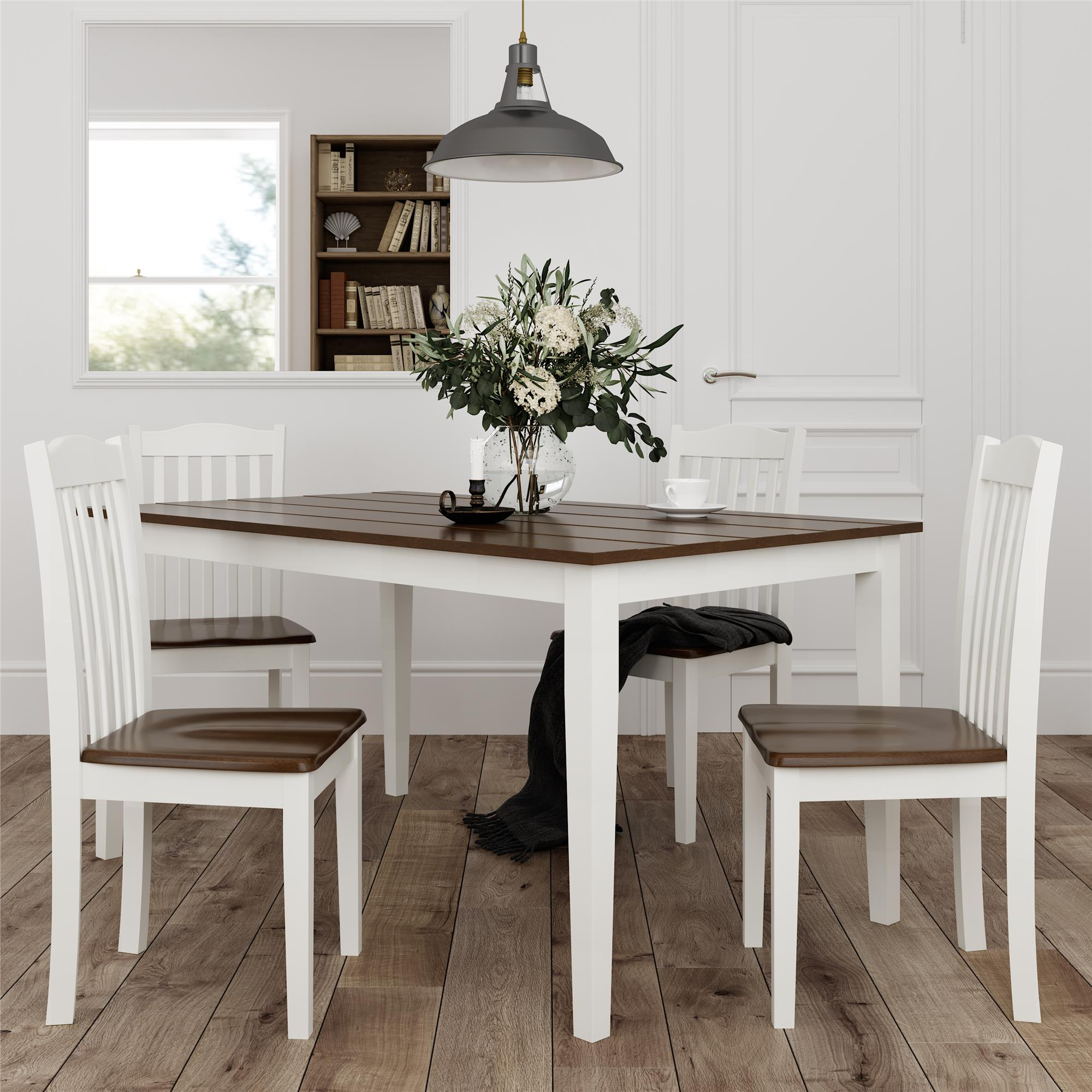 Dorel Living Shiloh 5 Piece Rustic, Rustic Dining Room Sets
