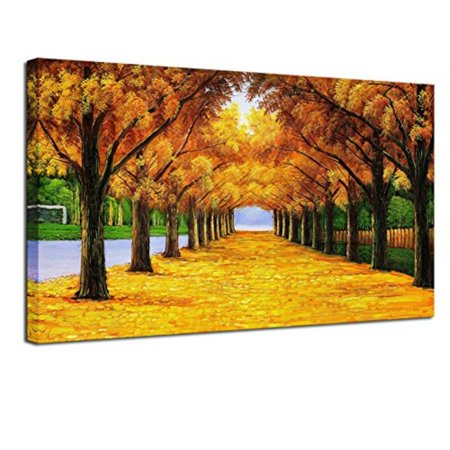 Pyradecor Large Orange Trees Giclee Canvas Prints Wall Art Paintings Pictures For Living Room Bedroom Home Office Decor Far Se