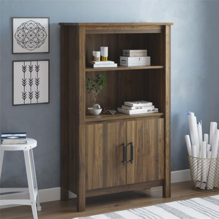Better Homes & Gardens Wesley 3 Shelf Bookcase with Doors, Multiple Colors