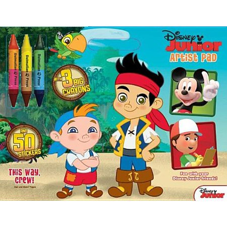 - Disney Junior Jake & the Never Land Pirates - This Way, Crew : Artist Pad with Big Crayons