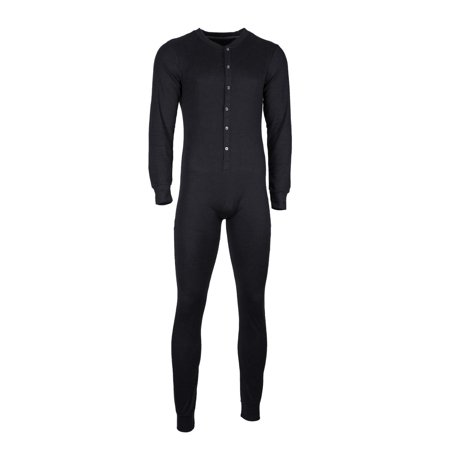 Perry Ellis Mens Union Suit, Full Body Thermal Underwear, Long ...