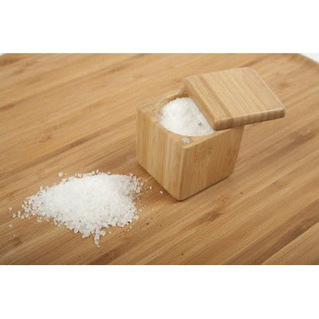 Core Bamboo Medium Square Wooden Salt Box / Spice -