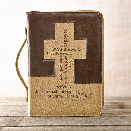 - John 3: 16 Bible Cover in Brown and Tan (Large) (Other)