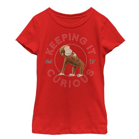 curious george girls' keeping it curious t-shirt
