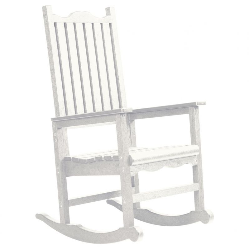 CR Plastic Products Generations Casual Porch Rocker 25W 47H