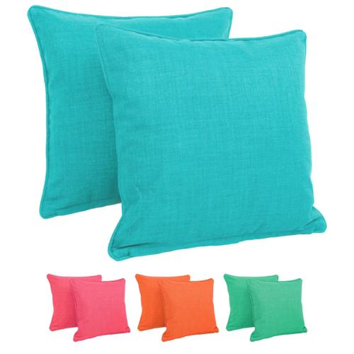 Blazing Needles 18-inch Outdoor Throw Pillows (Set of 2) Aqua Blue (REO-SOL-12)