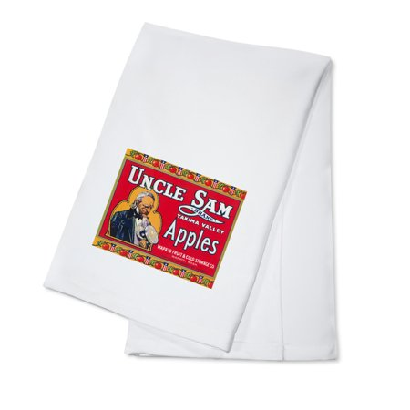 Uncle Sam Apple Label (red) (100% Cotton Kitchen Towel)](Ted Sam Jones)