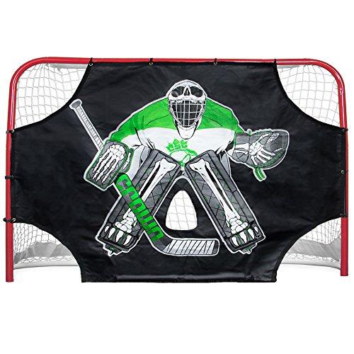 "Crown Sporting Goods Green Skull Sniper Ice Hockey Shot Target, 72"" x 48"""