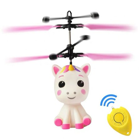 Unicorn Flying Ball Rc Toy Light Up Flying Fairy Toys For Kids Birthday Rechargeable Inductive Remote Control Helicopter - image 2 of 7