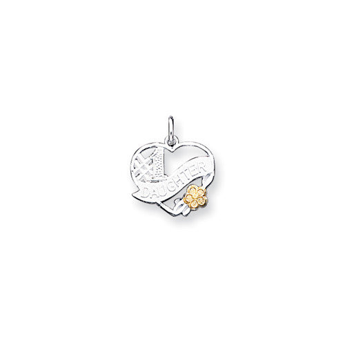 Jewelryweb Sterling Silver Number 1 Daughter Charm