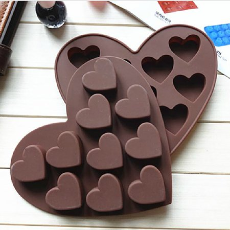 Silicone Ice Cube Tray Easy Maker Heart Shape Cubes Mould Valentines