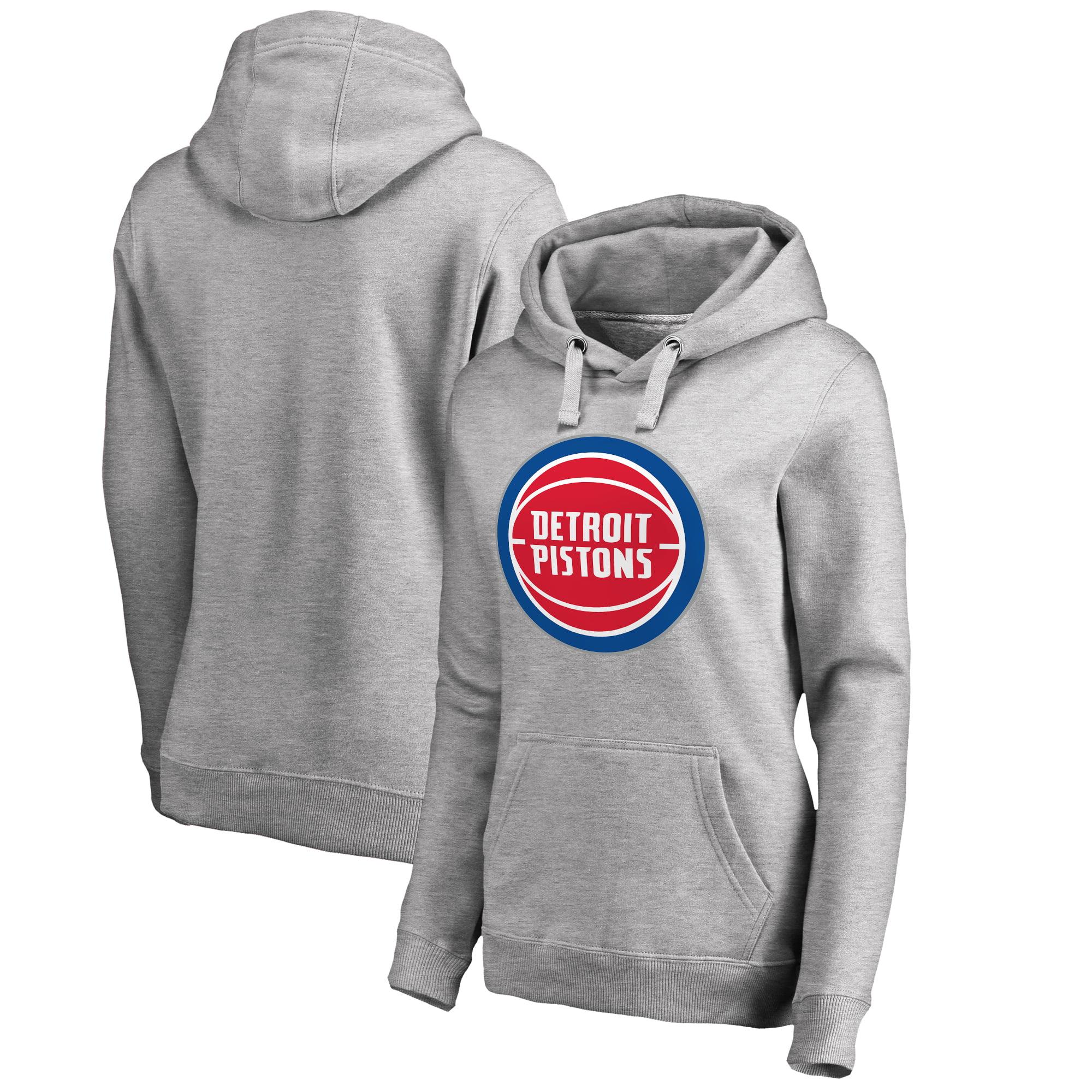 Detroit Pistons Fanatics Branded Women's Primary Logo Pullover Hoodie - Ash