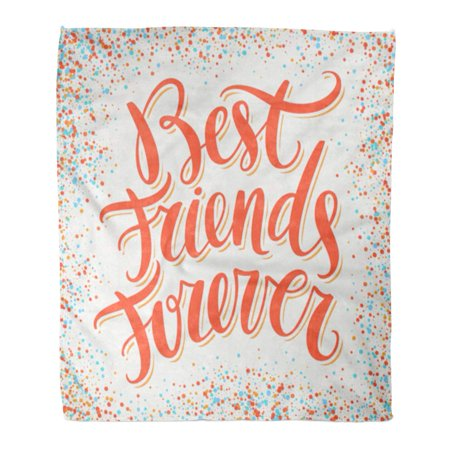 LADDKE 58x80 inch Super Soft Throw Blanket Day Best Friends Forever BFF Bro Brotherhood Friendship Fun Greeting Happy Home Decorative Flannel Velvet Plush