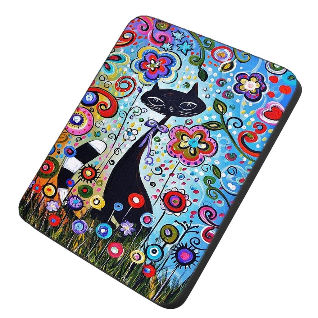 POPCreation Flower Kitty Cat Mouse pads Gaming Mouse Pad 9.84x7.87 inches