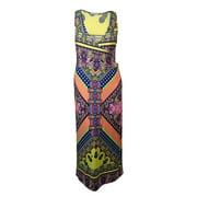 NY Collection Women's Paisley Surplice Jersey Maxi Dress