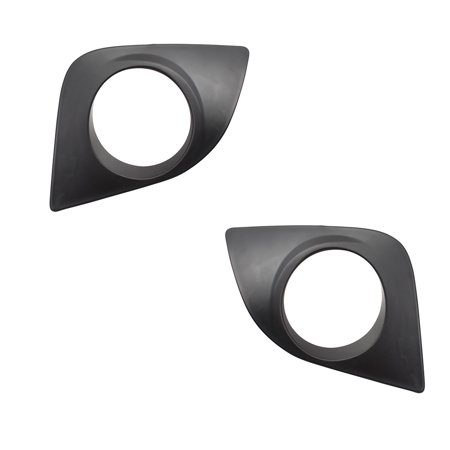 BROCK Pair Set Fog Lamp Covers Front Bumper Light Hole Trim Bezels  for 14-16 Toyota Corolla LE & LE Eco 8148202520