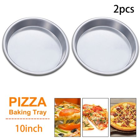 2Pcs 10 Inch Premium Non-Stick Pizza Pan Bakeware Pizza Plate Round