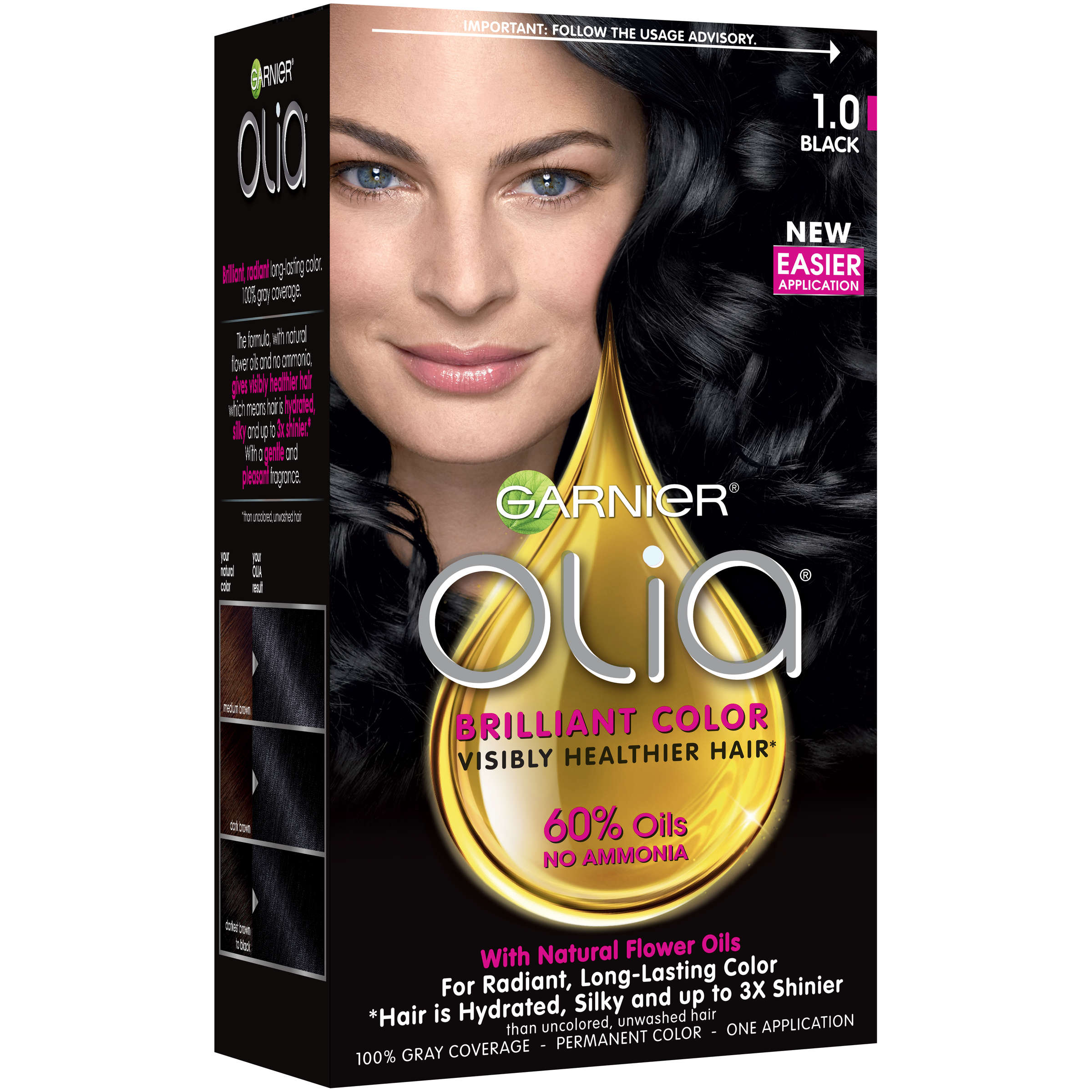 Garnier Olia Oil Powered Permanent Hair Color 211 Platinum Black
