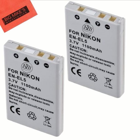 BM Premium 2-Pack of EN-EL5 Batteries for Nikon Coolpix P80, P90, P100, P500, P510, P520, P530 Digital