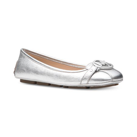 Michael Kors Ballet Flats - Michael Kors MK Women's Premium Designer Fulton Moccasin Flats Silver (8.5)