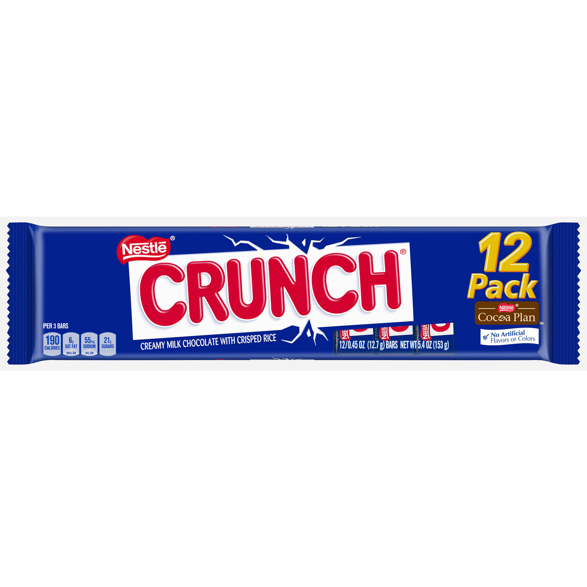Nestle Crunch Candy Bars, 0.45 oz, 12 count