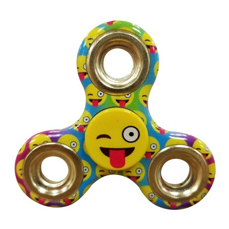 Emoji Fidget Spinner Toy   Helps Relieves Symptoms Of Stress Boredom Adhd Add   Helps Focus At School Class Home Work   Wink Face