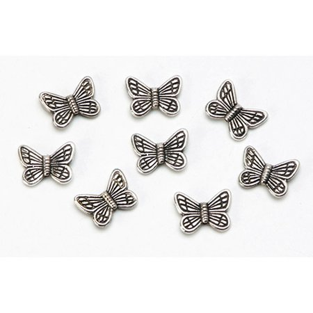 Metal Spacer Beads - Butterfly - Antique Silver - 10 X 20Mm