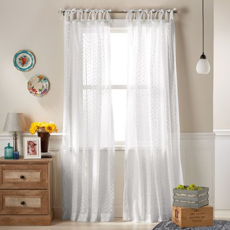The Pioneer Woman Darling Dot Pole Top Curtain (Top Curtain Panel)
