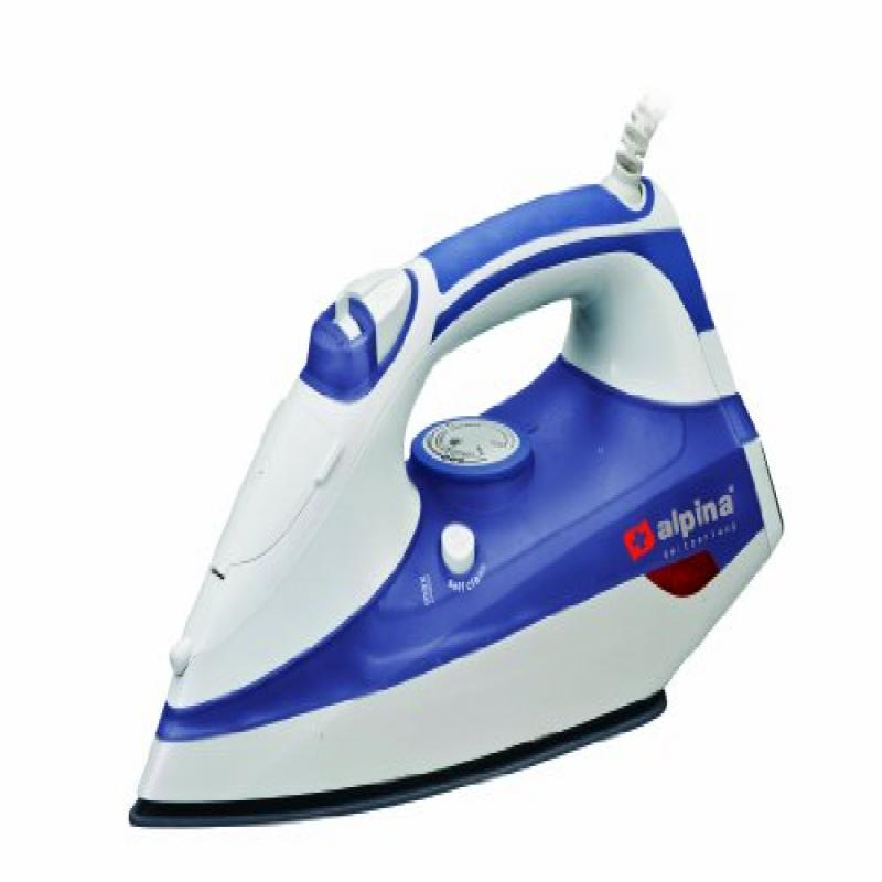 Alpina SF-1317 Non-stick Steam Iron Powerful 2200 Watts Self Cleaning (For 220 240 Volt Countries) by Alpina